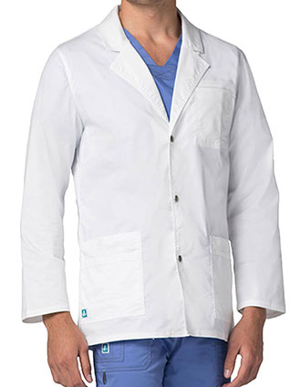 AD-3302-ADAR Pop-Stretch 31 Inch Men's Snap Front Short Lab Coat