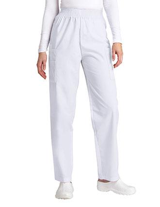 AD-503-Adar 30 Inch Women Elastic Waist Cargo Scrub Pants