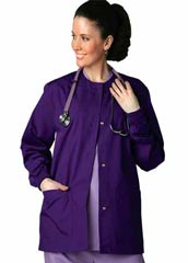 AD-602-Adar Uniforms Two Pockets Women Warm Up Scrub Lab Jacket