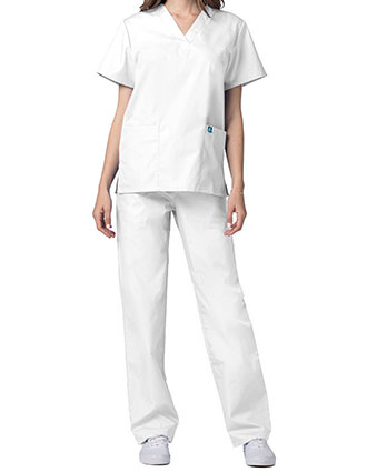 AD-701-Adar Unisex V-neck Basic Scrub Set