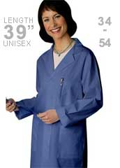 AD-80306-Adar Unisex 39 inch Ceil Blue Multiple Pocket Unisex Medical Lab Coat