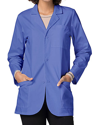 AD-80506-Adar Unisex 30 Inch Medical Uniforms Ceil Blue Consultation Coat