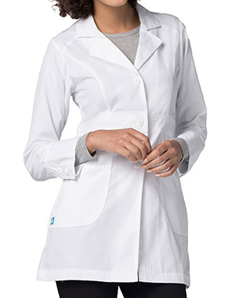 AD-811-Adar Women's 32 inches Multi Layered Pockets White Lab Coat