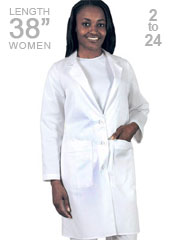 BA-1343-Barco 38 inch Multiple Pocket Womens Medical Lab Coat