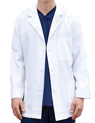 BA-29115-Barco Uniforms 31 inch Three Pockets Unisex Short Lab Coat