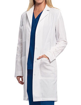 BA-29116-Barco 38 Inch Unisex Four Button Front Long Lab Coat