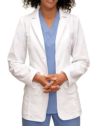 BA-4412-Barco 28 inch Button Flap Pocket Women Medical Lab Coat