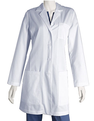 BA-4451-Barco 34 Inches Women's Princess seam Five Pocket Full Length Lab Coat