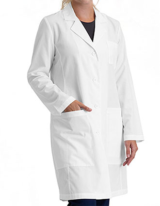 BA-BE500-Barco Essentials Women's Notched Collar 34 inches Lab Coat