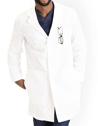 BA-BE501-Barco Essentials Unisex Notched Collar 38 inches Lab Coat