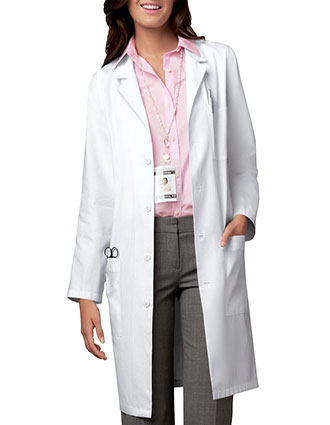 CH-1346-Cherokee Unisex Low Priced 40 inch Three Pocket White Lab Coat