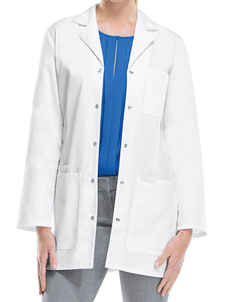 CH-1369-Cherokee 32 Inch Women's Snap Front White Lab Coat