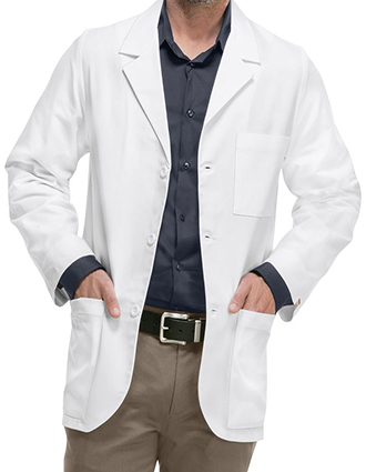 CH-1389A-Cherokee Med-Man 31 Inch Antimicrobial Consultation Lab Coat
