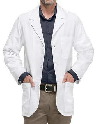 CH-1389AB-Cherokee Med-Man 31 Inch Antimicrobial with Fluid Barrier Consultation Lab Coat