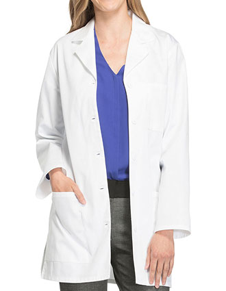 CH-1462-Cherokee Uniforms 32 inch White Laboratory Coat for Women