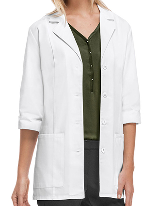 CH-1470AB-Cherokee's Professional Whites with Certainty 30 Inch Women's Fluid Barrier 3/4 Sleeve Lab Coat
