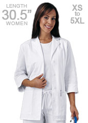 CH-1470-Cherokee 30.5 inch Three Quarter Sleeve White Lab Coat for Women