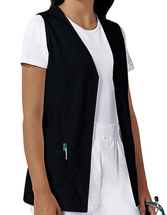 CH-1602-Cherokee 29 Inch Women's Button Front Nurse Vest