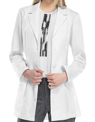 CH-2316-Cherokee 30 Inch Women's Notched Lapel Twill Lab Coat