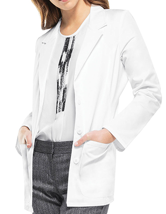 CH-2317-Cherokee 28 Inch Womens Fitted Blazer-Style Lab Coat