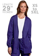 CH-4301-Cherokee 29 Inch Three Pocket Cardigan Women Warm-Up Scrub Jacket