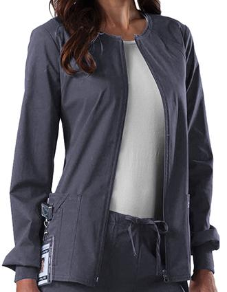 CH-4315-Cherokee Workwear Women's Zip Front Warm Up Jacket