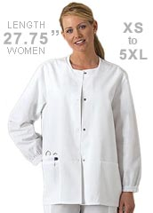 CH-4350-Cherokee Workwear Snap Front 27.5 Inch Women Warm-Up Scrub Jacket