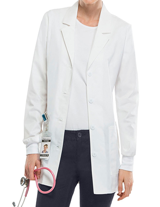 CH-4416-Cherokee Workwear Women's 30 inch Notched Lapel Collar Lab Coat