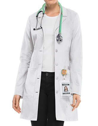 CH-4439-Cherokee Workwear Women's 33 Inch Notched Collar Lab Coat