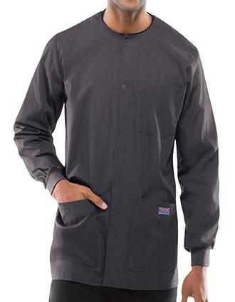 CH-4450-Cherokee Three Pockets Snap Front Men Warm-Up Scrub Jacket
