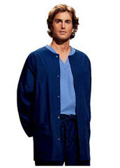 CH-4450-Cherokee Three Pockets Snap Front Men Warm-Up Scrub Jacket