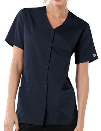 CH-4770-Cherokee Workwear 26.5 Inch Women's Snap Front Scrub Top