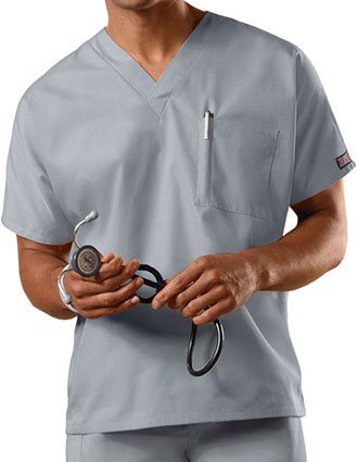 CH-4777-Cherokee Workwear Unisex V-Neck Solid Scrub Top