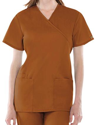 CH-4801-Cherokee Workwear Womens Three Pocket Scrub Top
