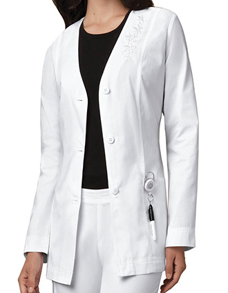 CH-C1403-Clearance Sale! Cherokee Women 29 inch White Cardigan Medical Lab Coat