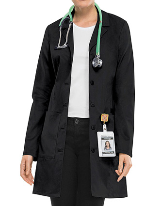 CH-C4439-Clearance Sale! Cherokee Workwear Women's 33 inch Notched Collar Lab Coat