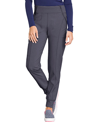 CH-CK110A-Cherokee Infinity Women's Knit Waistband Mid Rise Tapered Leg Jogger Pant
