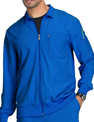 CH-CK305A-Cherokee Infinity Men's Zip Front Warm-Up Scrub Jacket