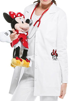 CH-TF400-Cherokee Tooniforms Disney Women's 32 Inches Minnie Mouse Embroidery Lab Coat