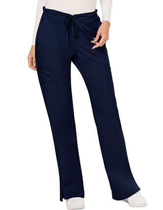 CH-WW120-Cherokee Workwear Revolution Womens Mid Rise Moderate Flare Drawstring Pant