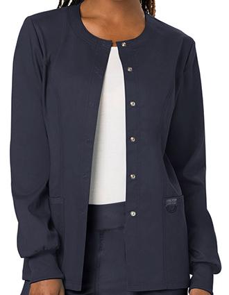 CH-WW310-Cherokee Workwear Revolution Womens Snap Front Warm-up Jacket