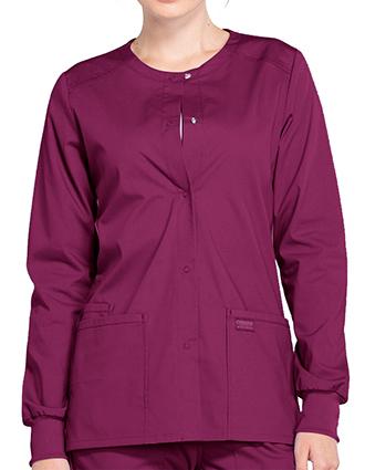 CH-WW340-Cherokee Workwear Professionals Women's Snap Front Warm Up Jacket
