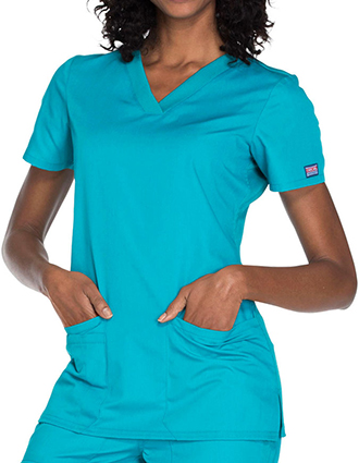 CH-WW645-Cherokee Workwear Women's Contemporary Fit V-neck Top