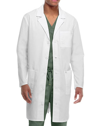 CO-36400AB-Code Happy Unisex 38 Inches Antimicrobial With Fluid Barrier Long Lab Coat