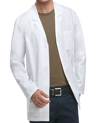 DI-81404A-Dickies EDS Professional Whites 31 Inch Men's Fit Consultation lab coat