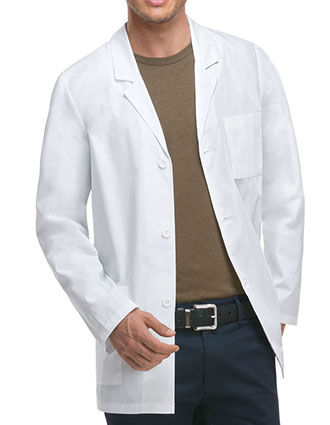 DI-81404AB-Dickies EDS Professional Whites Men's 31 Inches Antimicrobial With Fluid Barrier Lab Coat