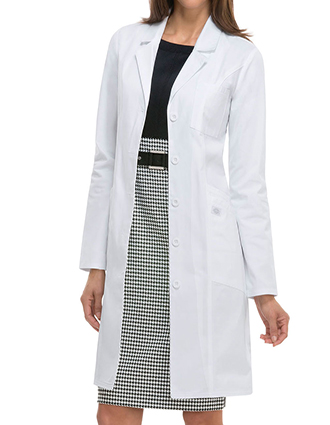 DI-82401-Dickies EDS professional white 37 inch Women's Lab Coat