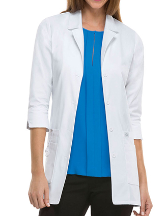 DI-82402-Dickies EDS Junior 30-Inch Women's White Medical Lab Coat