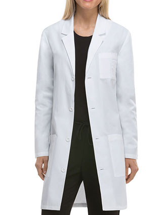 DI-83402A-Dickies EDS Professional Whites Unisex 37 Inches Antimicrobial Long Lab Coat