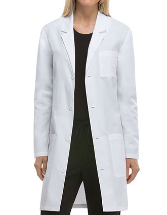 DI-83402AB-Dickies EDS Professional Whites Unisex 37 Inches Antimicrobial with Fluid Barrier Lab Coat